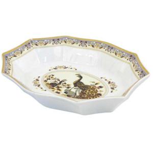 Porcelāna šķīvis brūnā krāsa