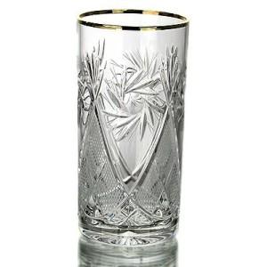 Kristāla sulas glāzes ar zeltu 330ml, 6gab.