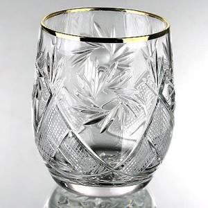 Krist. viskija glāze ar zeltu 200ml, 6g.
