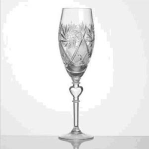 Kristāla degvīna glāzes kompl.