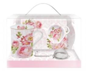 Tējas krūze ar sietu dāvanu iepakojumā